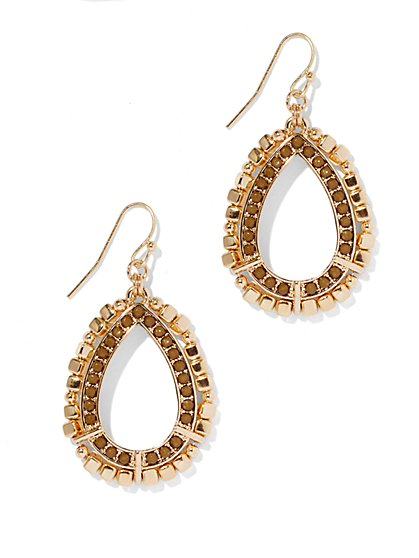 Beaded Double-Drop Earring - New York & Company