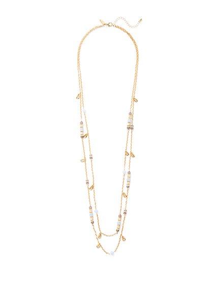 Beaded Double-Row Necklace  - New York & Company