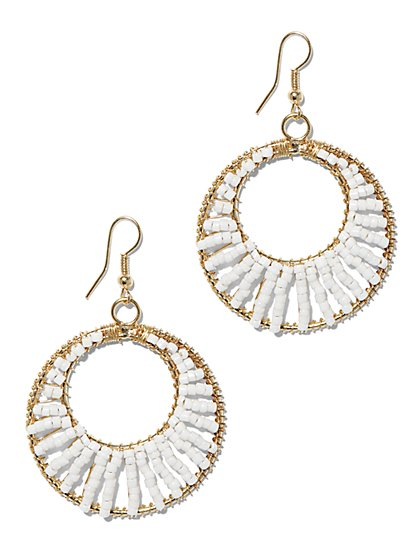 Beaded Drop Earring  - New York & Company