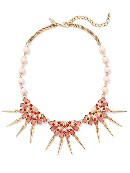 Beaded Fan Necklace  - New York & Company