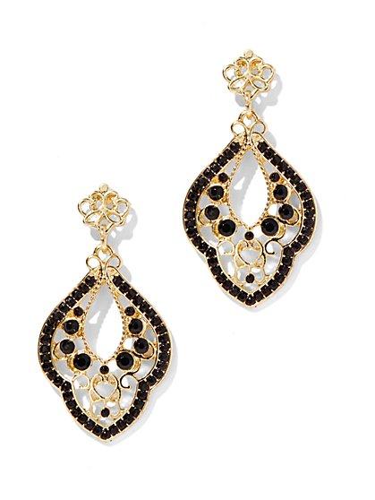 Beaded Filigree Abstract Earring - New York & Company