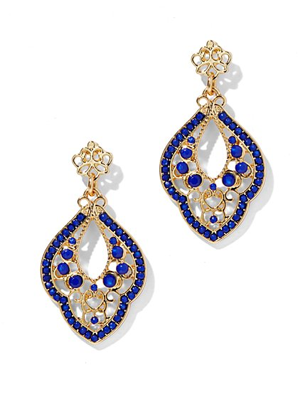 Beaded Filigree Abstract Earring - New York & Company
