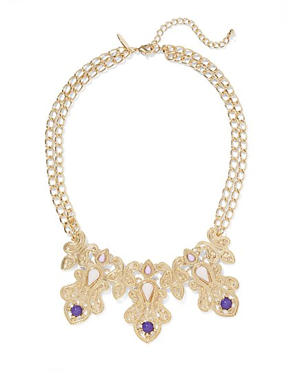 Beaded Filigree Necklace  - New York & Company