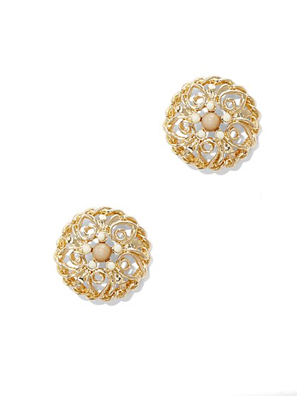 Beaded Filigree Post Earring  - New York & Company