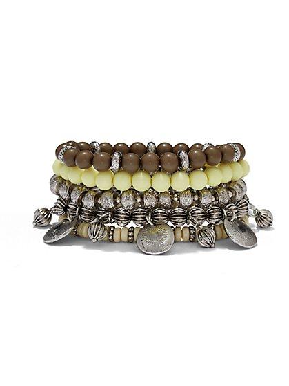 Beaded Five-Row Stretch Bracelet  - New York & Company