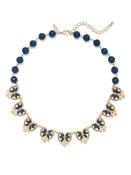 Beaded Floral Necklace  - New York & Company
