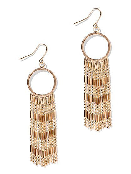 Beaded Fringe Earring  - New York & Company