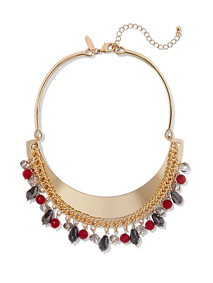 Beaded Goldtone Collar Necklace - New York & Company