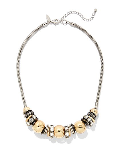 Beaded Goldtone Necklace  - New York & Company