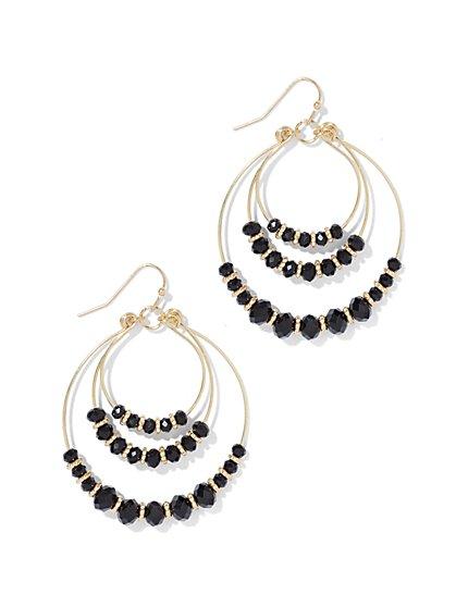 Beaded Hoop Drop Earring  - New York & Company