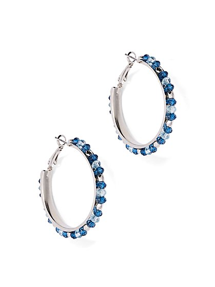 Beaded Hoop Earring  - New York & Company
