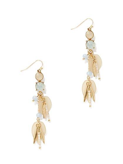 Beaded Linear Drop Earring - New York & Company