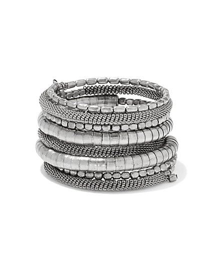 Beaded & Mesh Coil Bracelet  - New York & Company