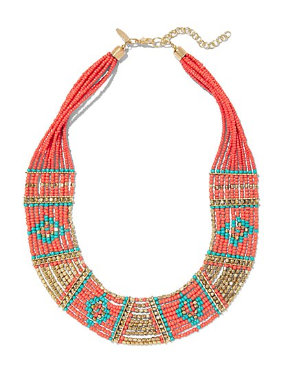 Beaded Multi-Row Necklace  - New York & Company