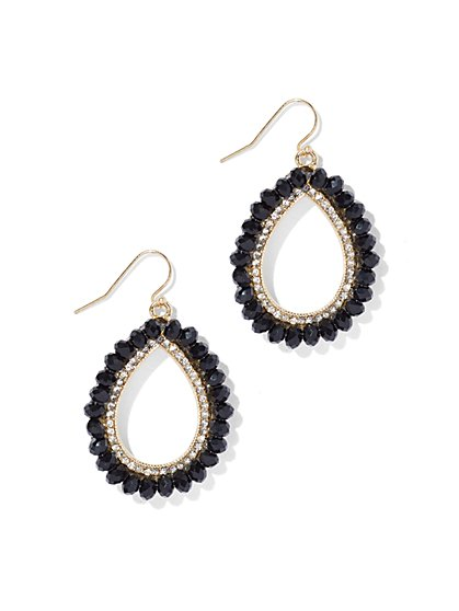 Beaded Open Teardrop Earring  - New York & Company