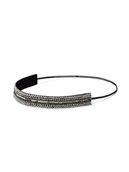 Beaded & Sequin Headband  - New York & Company