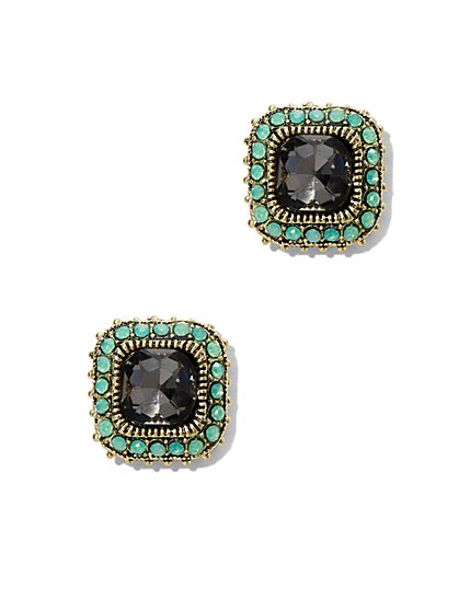 Beaded Square Post Earring  - New York & Company