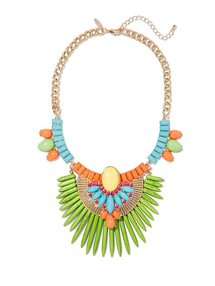 Beaded Statement Necklace  - New York & Company