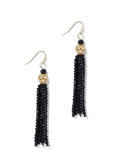 Beaded Tassel Drop Earring  - New York & Company