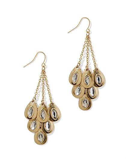 Beaded Teardrop Dangle Earrings