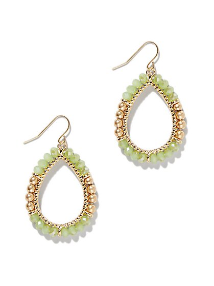 Beaded Teardrop Earring  - New York & Company