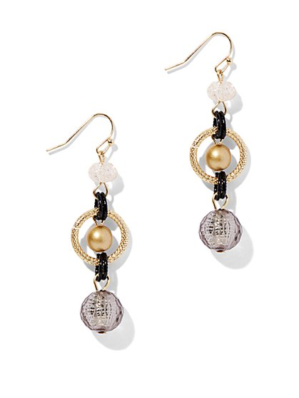 Beaded Triple-Drop Earring  - New York & Company