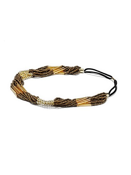 Beaded Twist Headband  - New York & Company