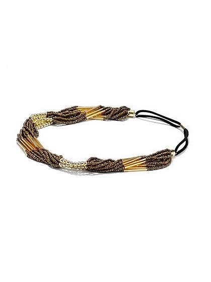 Beaded Twist Headband  - New York & Company