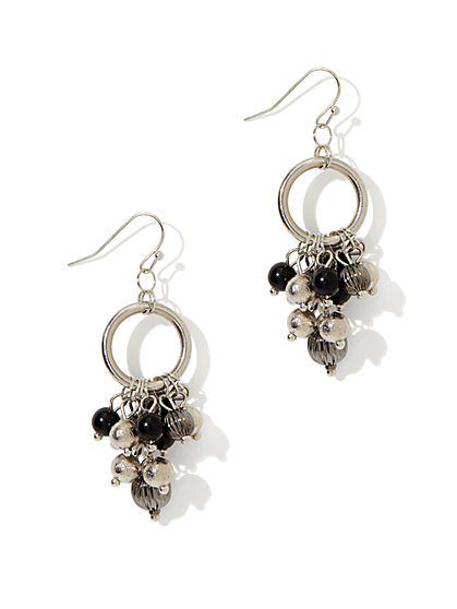 Beads & Hoop Jangle Earring - New York & Company