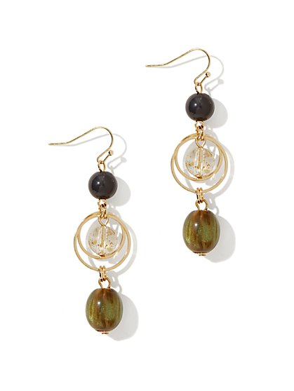 Beads & Hoops Triple-Drop Earring - New York & Company