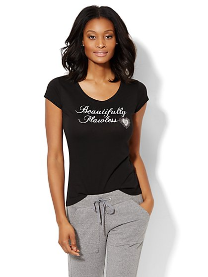 Beautifully Flawless Tee  - New York & Company