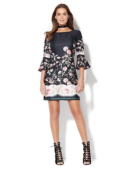 Bell-Sleeve Dress - Petite  - New York & Company