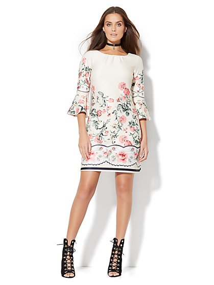 Bell-Sleeve Dress  - New York & Company