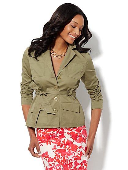 Belted Safari Jacket - Petite - New York & Company