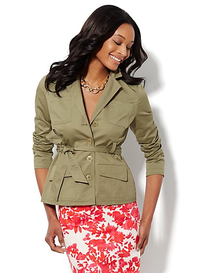Belted Safari Jacket - New York & Company