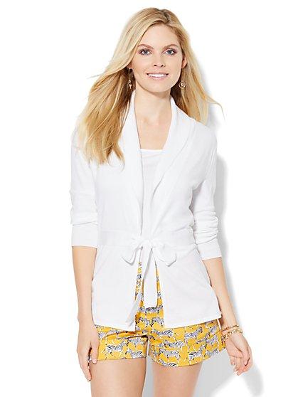 Belted Shawl-Collar Cardigan  - New York & Company