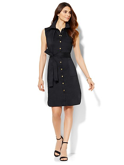 Belted Shirtdress - Petite  - New York & Company