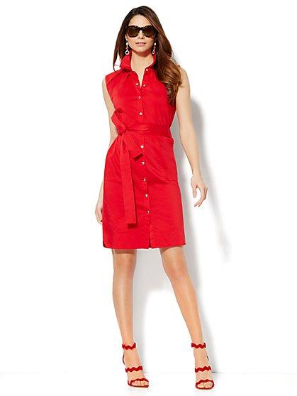 Belted Shirtdress - New York & Company