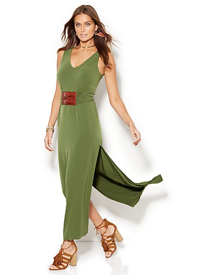 Belted Sleeveless Maxi Dress  - New York & Company