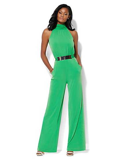 Belted Soft Jumpsuit - New York & Company