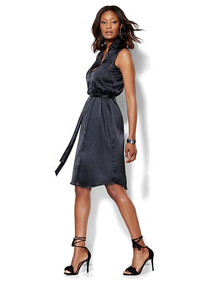 Belted Soho Shirt Dress - Sleeveless  - New York & Company