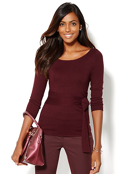Belted Sweater Pullover  - New York & Company