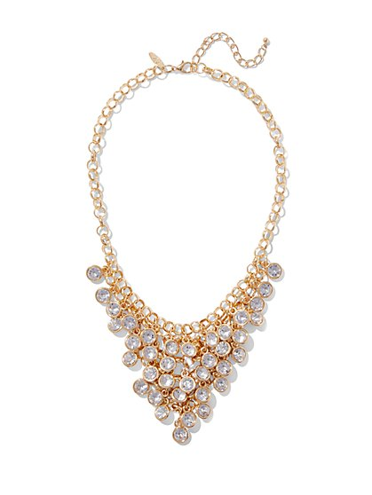 Bezel-Set Statement Necklace  - New York & Company