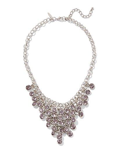 Bezel-Set Statement Necklace  - New York & Company