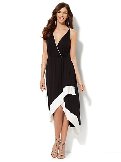 Black & White Hi-Lo Dress - New York & Company