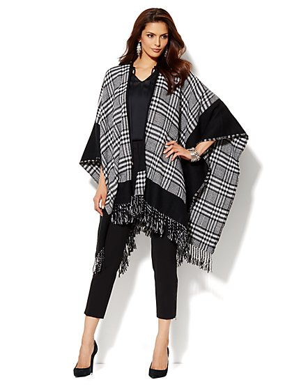 Blanket Cape - Plaid - New York & Company