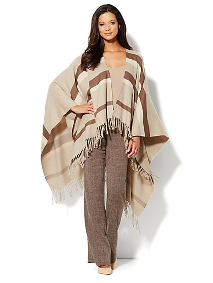 Blanket Cape - Stripe - New York & Company