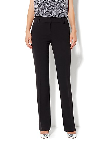 Bleecker Street City Double Stretch Straight Leg Pant - Petite - New York & Company