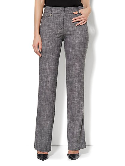 Bleecker Street Mini Bootcut Pant - Tall - Black   - New York & Company