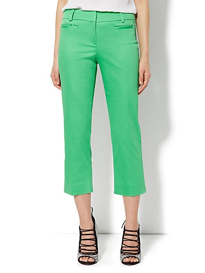 Bleecker Street Pant - Crop - Cotton Sateen  - New York & Company